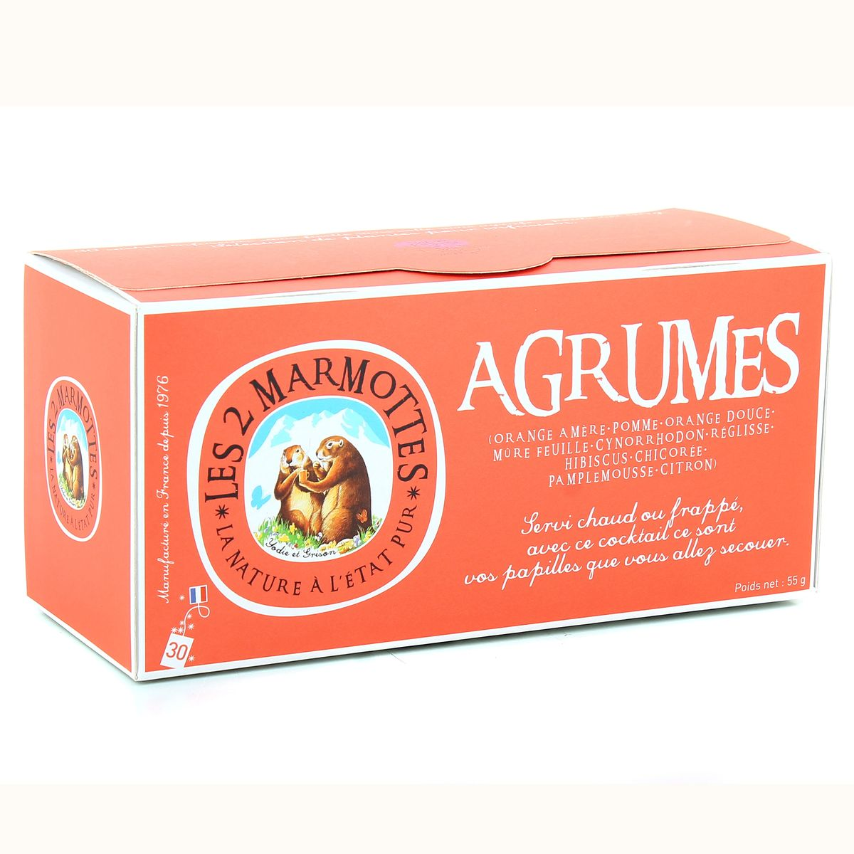 Photo du produit Infusion aux agrumes Les Deux Marmottes
