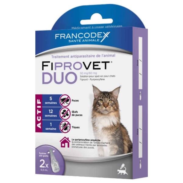 Photo du produit Traitement Spot-On Fiprovet Duo pour Chat